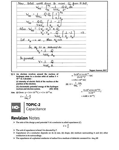 Oswaal ISC Question Bank Class 12 Physics Book Chapterwise & Topicwise (For March 2020 Exam)