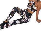 Abbigliamento sportivo da donna Stampa Cross Vest Reggiseno yoga Pantaloni Fitness Set Canotta + Pantaloni Set Completo a due pezzi