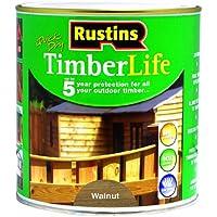 Rustins TLWA1000 - Vernice protettiva per legno da esterni, 1 l, colore: Noce