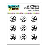OM AUM Yoga Namaste Noir Blanc–Home button Stickers pour Apple iPhone (3G,...