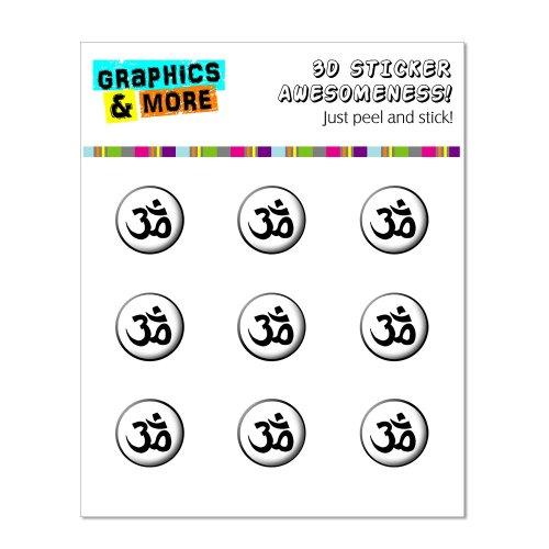 Om Aum Yoga Namaste schwarz weiß–Home Knopf, Aufkleber Apple iPhone (3G, 3GS, 4, 4S, 5, 5C, 5S), iPad (1, 2, 3, 4, Mini), iPod Touch (1, 2, 3, 4, 5) (Ipod Touch 4-knopf-aufkleber)