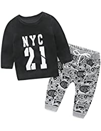 d4c499fbb159 ChicNChic Baby Boys Clothes Long Sleeve T-Shirt Tops with Panda Print Pants 2pcs  Outfits