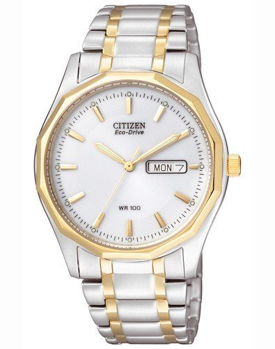 Citizen Herren Analog Quarz Uhr mit Edelstahl beschichted Armband BM8434-58AE