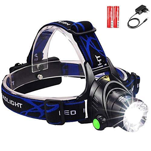 SerBlue Starker Scheinwerfer 20000 Lumen LED-Scheinwerfer L2 / T6 Teleskopzoom, wiederaufladbarer wasserdichter Kletter-Fernscheinwerfer