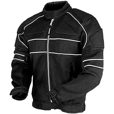 Juicy Trendz Hombres Blindado Impermeable Textil Moto Motocicleta Cordura Chaqueta