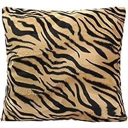 45x45cm Cubierta Funda Leopardo Cebra Impreso para Almohada Cojín Amortiguador de Sofá #02