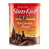 Slim-Fast Rich Chocolate Flavour Milkshake Powder - 12 Portionen (450g) - Packung mit 2