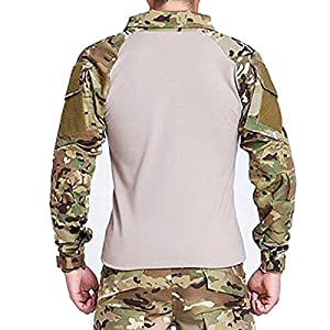 Hommes de combat Camouflage pour Homme à Manches Longues avec Coudières couleur camouflage MultiCam EDR pour tactique militaire armée pour airsoft/paintball
