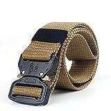 Cadiyo Outdoor-Trainingsgürtel Tactical verdicken Nylon-Metall-Gürtel mit Cobra Schnalle Sicherheitsgurte
