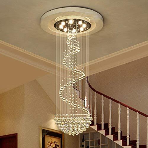 AMA Gbyzhmh der Beleuchtung drehende Kronleuchter von Crystal Chandeliers, Moderne Lounge Treppenhaus Long Buildings Innenbeleuchtung,4 Lichter / 40 * 120cm -