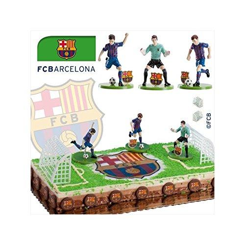 Kit de décoration Football FC Barcelone - Dek Déco Gâteau Anniversaire Pvc Foot - 530