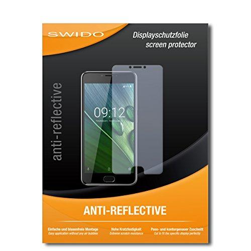 SWIDO Schutzfolie für Acer Liquid Z6 Plus [2 Stück] Anti-Reflex MATT Entspiegelnd, Hoher Härtegrad, Schutz vor Kratzer/Bildschirmschutz, Bildschirmschutzfolie, Panzerglas-Folie