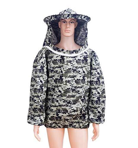 MEICHEN 1 Satz Bienenzucht Kleidung Schutzjacke Bienenstock Anzug für Imker Anti Biene Digital Fashion Design atmungsaktiv Schleier