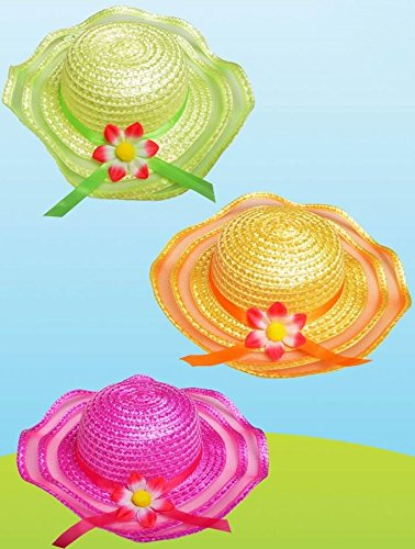 Kinder Ostern Motorhaube Sun Strohhut Party Beach Cap Daisy Blume Dekorieren mit Küken & Eier (Kostüme Halloween Kinder Daisy)