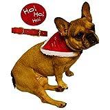 Lively Moments Weihnachtshalstuch für Hunde / Hundehalsband mit Tuch / Dreieckstuch / Weihnachtskostüm für Hund und Katze