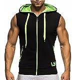 Clothing : Comeon Sleeveless Hoodie,Zipped Hoodie, Mens Sleeveless Hooded Zip Sports Sweatshirt Hoodies Sportswear Hoody