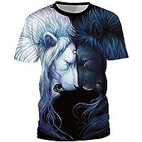 SEVENWELL Unisex 3D Camisas De Impresión Digital Con Estilo Vivo Realista Animal Manga Corta Camiseta Tops Verano