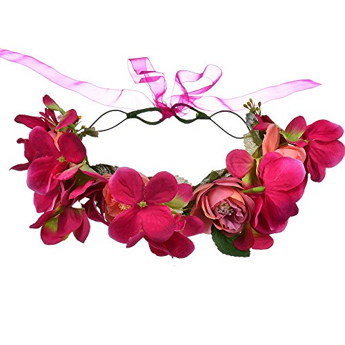 AdorabFitting Girlande garland girlande guder kranz gudelj grunwald Europäische und amerikanische handgefertigte künstliche Rosenblüten Rosenrot