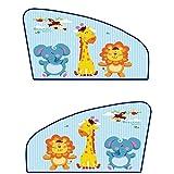 Chilsuessy 2er Set Universell Auto Sonnenschutz für Autoscheiben Kinder Cartoon Auto Sonnenschutz Sonnenblende für Baby Autosonnenschutz