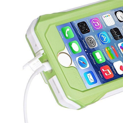 Phone case & Hülle Für IPhone 6 Plus IP68 wasserdicht Shockproof Staubdicht Snowproof Schutzhülle mit Halter & Lanyard ( Color : Blue ) Green