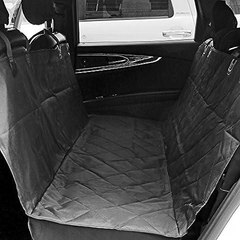 aLLreLi Cubierta protectora impermeable de asiento de coche trasero para mascotas Negro