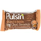 Pulsin' Almond and Raisin Raw Choc Brownie, 50g