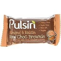 Pulsin' Almond and Raisin Raw Choc Brownie, 50g