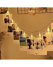 AtneP 20 LED Star Photo Clip Fairy String Lights, 4 m