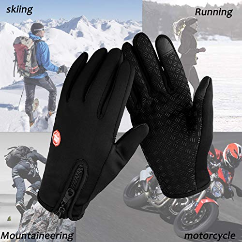 Guantes Invierno Hombre Mujer Guantes Termicos para frio moto ciclismo running bici gym para movil Tactiles Re