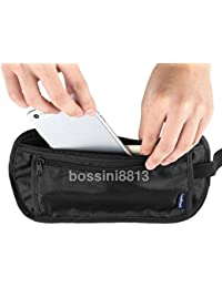SLB Works Travel Sport Pouch Bag Hidden Compact Security Money Waist Belt Holder Pocket
