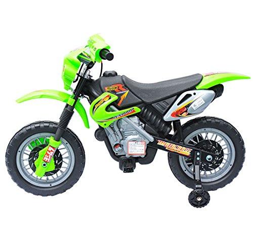 Moto Electrica Infantil Bateria 6V Recargable Niños 5 Años Cargador y Ruedas Apoyo