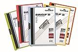Durable 999109940 Duraclip Klemm-Mappen Original 30 für DIN A4) Beutel 5 Stück farbig sortiert