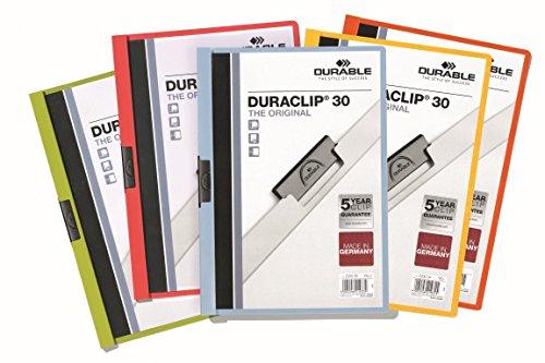 Durable 229557 Duraswing Chemise de Pr/ésentation A4 30 feuilles Couverture Polypro Opaque Anthracite Lot de 5