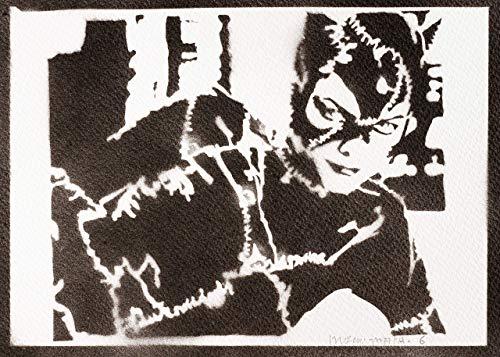 Catwoman Poster Plakat Handmade Graffiti Street Art - Artwork (Schwarze Catwoman Kostüm)