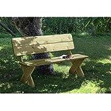 Elegante Gartenbank Toskana 3-Sitzer aus imprägniertem Holz von Gartenpirat®