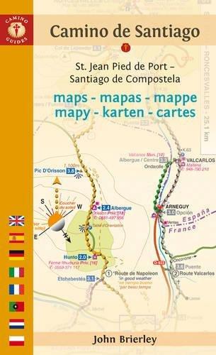 Mapa-Guía Camino de Santiago (St Jean Pied de Port-Santiago). Findhorn. (Camino Guides) por John Brierley