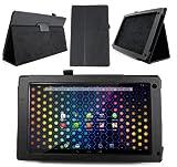 Duragadget Etui aspect cuir noir + stand de maintien arrière pour Archos 101 NEON tablette tactile 10,1 pouces Android 4.2 3G / WiFi (PAS COMPATIBLE avec modèles Titanium, Platinium, Xenon et Cobalt)