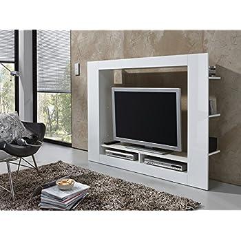 wohnwand anbauwand schrankwand wohnzimmer schrank wei mit hochglanz kixu i k che. Black Bedroom Furniture Sets. Home Design Ideas