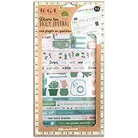 Toga mes proyectos AU QUOTIDIEN Kit Accesorios Bullet Journal, papel/plástico, rose-rouge-bleu, pack: 15,8x 30,5cm