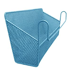 Cdet Storage Basket Metal Storage Pen Holder with Hook Makeup Case Toiletry Storage Home Tidy