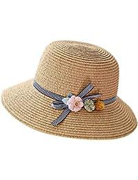 e64b625c37 RISTHY Sombrero de Paja Sombrero de Sol Plegable Gorro de Pescador Gorro Al  Aire Libre Visera