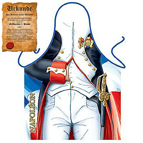 Urlaub Kostüme Mottoparty (Lustige Grillschürze Napoleon / Frankreich : Napoleon !!Top Geschenk mit GRATIS Urkunde!! One)