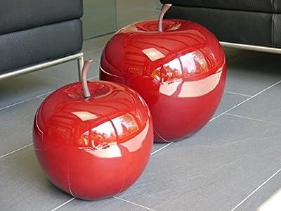 Deko-Apfel aus Fiberglas, Hochglanz rot von EastWest-Trading GmbH auf Du und dein Garten