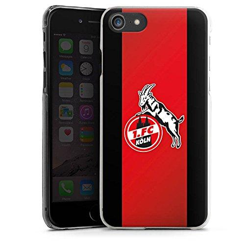 Apple iPhone 8 Plus Hülle Case Handyhülle 1. FC Köln Fanartikel Fussball Hard Case transparent