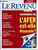 Telecharger Livres REVENU FRANCAIS LE du 01 10 1997 ASSURANCE VIE L AFER EST ELLE DEPASSEE BOURSE LES GRANDES SICAV VOS DROITS POUR LOGER VOS ENFANTS ART ET COLLECTION 6 ARTISTES CONTEMPORAINS AUTOMOBILE VIN TESTE OU EN EST A PIERR (PDF,EPUB,MOBI) gratuits en Francaise