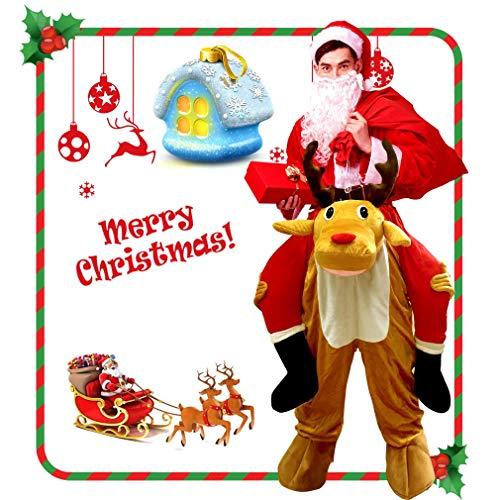 (CRSURE Rentier Kostüm für Weihnachten, einfach zu tragen und zu Gehen, für Rentier-Maskottchen, Fancy Reiten auf Rentier Schultern Unisex Erwachsene.)