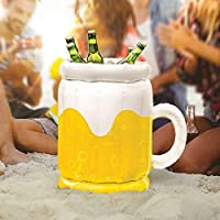 GJXY Inflatable ice bucket,Inflatable Beer Bucket Drinks Cooler Party Beach Outdoors Pool Bottle Holder,16Inch