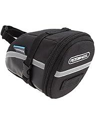 Roswheel Ciclismo para bicicleta Tija bolsa del bolso del asiento de la silla de montar de la cola trasera Paquete Negro al aire libre, capacidad 1.2 litros