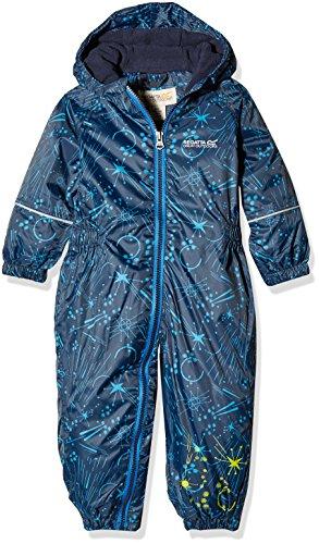 Regatta Kinder Bedruckt Splat wasserdichte Jacke, Kinder, Printed Splat, Navy Galaxy, 6-12 m (M Schnee Anzug 12)