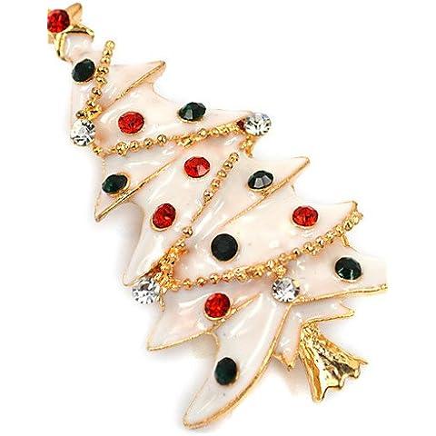 OUYANG el árbol de navidad broche broche de alta calidad accesorios de la señora del diamante de Corea del collar de regalo de la Navidad , white-one size , white-one size